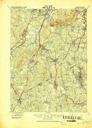 Dedham, Massachusetts 1919 (1919) USGS Old Topo Map Reprint 15x15 MA Quad 352583