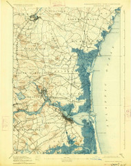 Exeter, New Hampshire 1894 (1926) USGS Old Topo Map Reprint 15x15 MA Quad 352897
