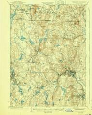 Fitchburg, Massachusetts 1935 (1940) USGS Old Topo Map Reprint 15x15 MA Quad 352643