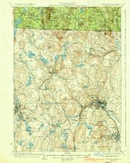 Fitchburg, Massachusetts 1936 (1936) USGS Old Topo Map Reprint 15x15 MA Quad 352641