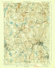 Fitchburg, Massachusetts 1936 (1936) USGS Old Topo Map Reprint 15x15 MA Quad 352642