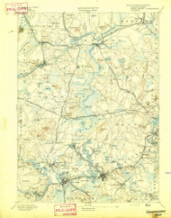 Framingham, Massachusetts 1894 (1894) USGS Old Topo Map Reprint 15x15 MA Quad 352658