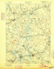 Framingham, Massachusetts 1894 (1900) USGS Old Topo Map Reprint 15x15 MA Quad 352659