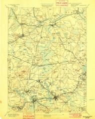 Framingham, Massachusetts 1894 (1901) USGS Old Topo Map Reprint 15x15 MA Quad 352660