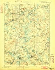 Framingham, Massachusetts 1894 (1902) USGS Old Topo Map Reprint 15x15 MA Quad 352661