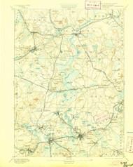 Framingham, Massachusetts 1894 (1905) USGS Old Topo Map Reprint 15x15 MA Quad 352662