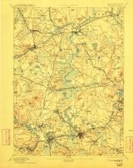 Framingham, Massachusetts 1894 (1911) USGS Old Topo Map Reprint 15x15 MA Quad 352664