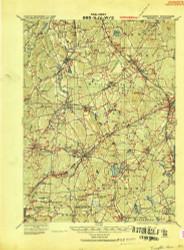 Franklin, Massachusetts 1919 (1919) USGS Old Topo Map Reprint 15x15 MA Quad 352680