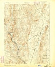 Granby, Connecticut 1892 (1892) USGS Old Topo Map Reprint 15x15 MA Quad 331032