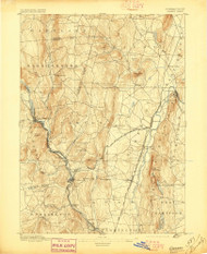 Granby, Connecticut 1892 (1897) USGS Old Topo Map Reprint 15x15 MA Quad 331033