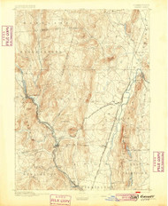 Granby, Connecticut 1892 (1899) USGS Old Topo Map Reprint 15x15 MA Quad 331034