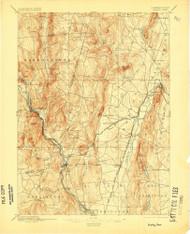 Granby, Connecticut 1892 (1905) USGS Old Topo Map Reprint 15x15 MA Quad 331035