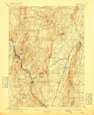 Granby, Connecticut 1892 (1917) USGS Old Topo Map Reprint 15x15 MA Quad 331037