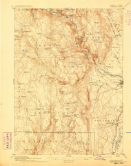 Granville, Massachusetts 1895 (1895) USGS Old Topo Map Reprint 15x15 MA Quad 352716