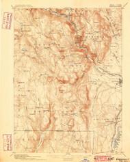 Granville, Massachusetts 1895 (1899) USGS Old Topo Map Reprint 15x15 MA Quad 352717
