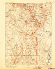 Granville, Massachusetts 1895 (1905) USGS Old Topo Map Reprint 15x15 MA Quad 352718