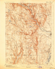 Granville, Massachusetts 1895 (1928) USGS Old Topo Map Reprint 15x15 MA Quad 352724