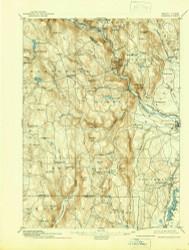 Granville, Massachusetts 1895 (1939) USGS Old Topo Map Reprint 15x15 MA Quad 352710