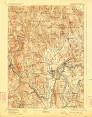 Grenfield, Massachusetts 1894 (1923) USGS Old Topo Map Reprint 15x15 MA Quad 352733