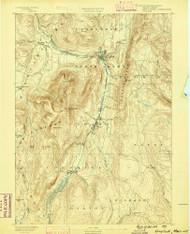 Greylock, Massachusetts 1886 (1886) USGS Old Topo Map Reprint 15x15 MA Quad 352738