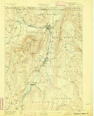 Greylock, Massachusetts 1891 (1891) USGS Old Topo Map Reprint 15x15 MA Quad 352739