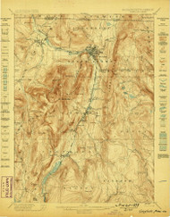 Greylock, Massachusetts 1898 (1898) USGS Old Topo Map Reprint 15x15 MA Quad 352741