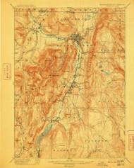 Greylock, Massachusetts 1898 (1909) USGS Old Topo Map Reprint 15x15 MA Quad 352744