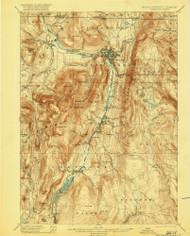 Greylock, Massachusetts 1898 (1920) USGS Old Topo Map Reprint 15x15 MA Quad 352746