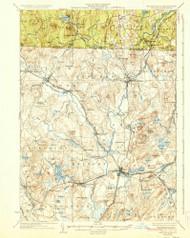 Groton, Massachusetts 1936 (1936) USGS Old Topo Map Reprint 15x15 MA Quad 352762