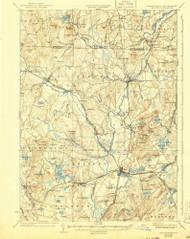 Groton, Massachusetts 1936 (1941) USGS Old Topo Map Reprint 15x15 MA Quad 352765