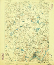 Haverhill, New Hampshire 1890 (1890) USGS Old Topo Map Reprint 15x15 MA Quad 352767
