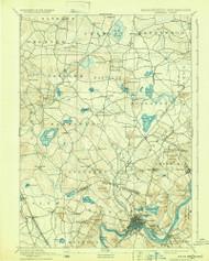 Haverhill, New Hampshire 1893 (1932) USGS Old Topo Map Reprint 15x15 MA Quad 352775