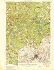 Haverhill, New Hampshire 1935 (1935) USGS Old Topo Map Reprint 15x15 MA Quad 352776