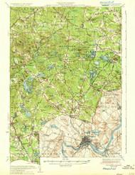 Haverhill, New Hampshire 1935 (1935) USGS Old Topo Map Reprint 15x15 MA Quad 330073
