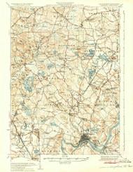 Haverhill, New Hampshire 1935 (1935) USGS Old Topo Map Reprint 15x15 MA Quad 330074
