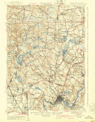 Haverhill, New Hampshire 1935 (1940) USGS Old Topo Map Reprint 15x15 MA Quad 330068