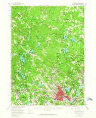 Haverhill, New Hampshire 1956 (1964) USGS Old Topo Map Reprint 15x15 MA Quad 330071