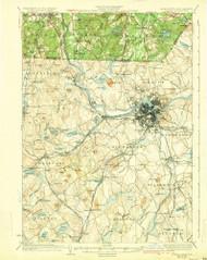 Lowell, Massachusetts 1935 (1935) USGS Old Topo Map Reprint 15x15 MA Quad 352819