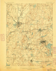 Marlborough, Massachusetts 1898 (1905) USGS Old Topo Map Reprint 15x15 MA Quad 352825
