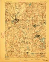 Marlborough, Massachusetts 1898 (1910) USGS Old Topo Map Reprint 15x15 MA Quad 352826