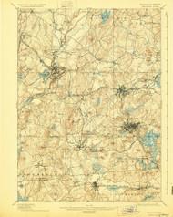 Marlborough, Massachusetts 1898 (1929) USGS Old Topo Map Reprint 15x15 MA Quad 352832