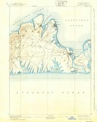 Marthas Vineyard, Massachusetts 1894 (1939) USGS Old Topo Map Reprint 15x15 MA Quad 352844