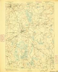 Middleboro, Massachusetts 1893 (1893) USGS Old Topo Map Reprint 15x15 MA Quad 352847