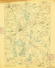 Middleboro, Massachusetts 1893 (1898) USGS Old Topo Map Reprint 15x15 MA Quad 352848