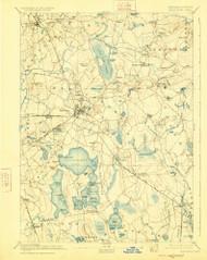 Middleboro, Massachusetts 1893 (1925) USGS Old Topo Map Reprint 15x15 MA Quad 352852