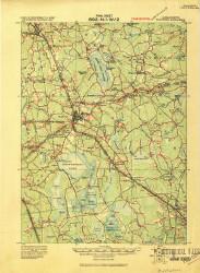 Middleboro, Massachusetts 1916 (1916) USGS Old Topo Map Reprint 15x15 MA Quad 352851
