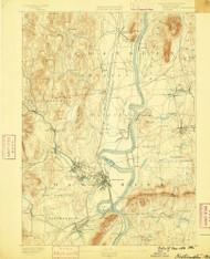Northampton, Massachusetts 1886 (1886) USGS Old Topo Map Reprint 15x15 MA Quad 352898
