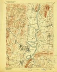 Northampton, Massachusetts 1895 (1918) USGS Old Topo Map Reprint 15x15 MA Quad 352907