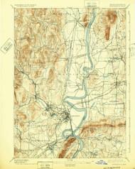 Northampton, Massachusetts 1895 (1932) USGS Old Topo Map Reprint 15x15 MA Quad 352909