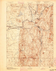 Palmer, Massachusetts 1893 (1893) USGS Old Topo Map Reprint 15x15 MA Quad 352919